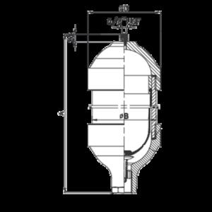 EPE ACCUMULATOR דגם AM 0.5-10 - מצברים הידראוליים